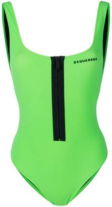 DSQUARED2 zipped logo one-piece