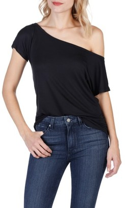 Women's Paige Holly One-Shoulder Tee $108 thestylecure.com