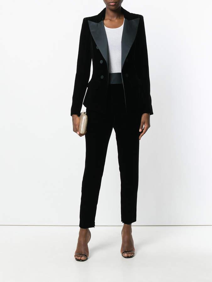 Alexandre Vauthier high waist velvet trousers