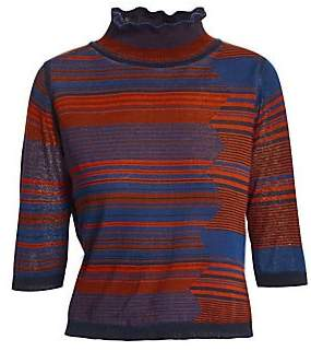 See by Chloe Women's Space Dye Turtleneck Knit Sweater