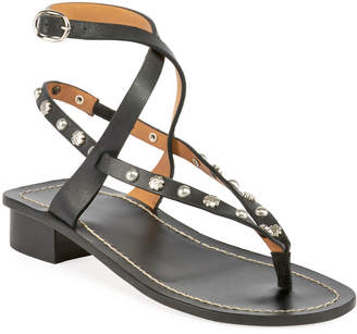 Isabel Marant Jings Studded T-Strap Sandal