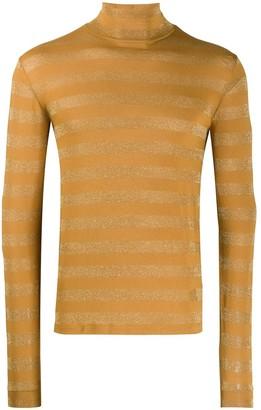 Saint Laurent metallic striped jumper