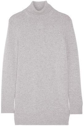 Michael Kors Collection - Cashmere Turtleneck Sweater - Gray $995 thestylecure.com