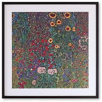 John Lewis & Partners Gustav Klimt - Farm Garden with Sunflowers Framed Print, 52 x 52cm