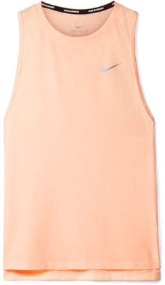 Nike Tailwind Perforated Dri-fit Stretch-jersey Tank - Peach