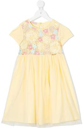 Miss Blumarine embroidered flowers dress