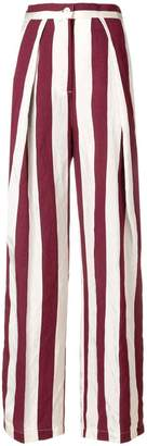 Aspesi striped wide-leg trousers
