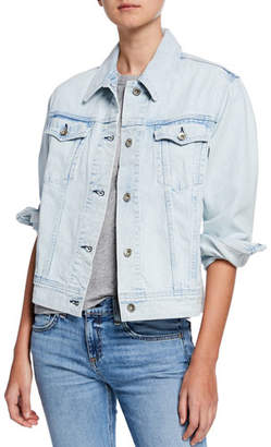 Rag & Bone Oversized Button-Front Denim Jacket