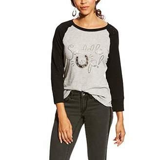 Ariat Riva Graphic Tee Black/Heather Grey Size