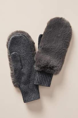 Anthropologie Faux Fur Mittens