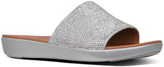 b9cebbd72 Next Womens FitFlop Silver Steffy Slide Crystal Pave Sandal