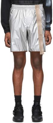 Oakley By Samuel Ross by Samuel Ross Silver Metallic Shorts