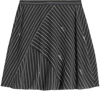 Karl Lagerfeld Paris Pinstripe Silk Skirt