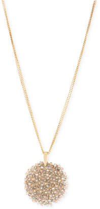Kenneth Cole New York Gold-Tone Faceted Woven Bead Pendant Necklace