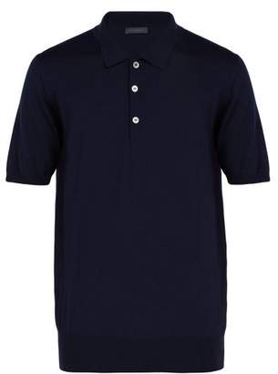 Thom Sweeney - Merino Wool Polo Shirt - Mens - Navy