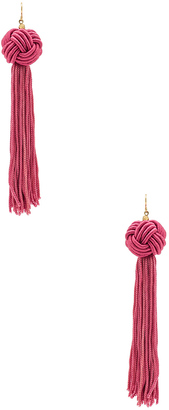 Vanessa Mooney Astrid Knotted Tassel Earring $40 thestylecure.com