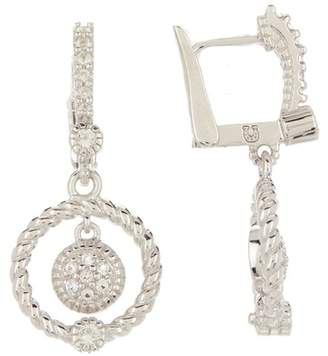 Judith Ripka Sterling Silver La Petite Pave Stone Dangle Earrings
