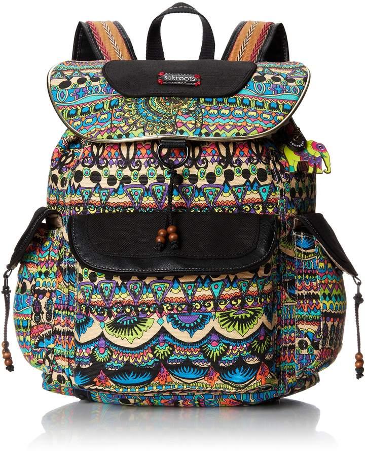 Sakroots Women's Artist Circle Flap Backpack