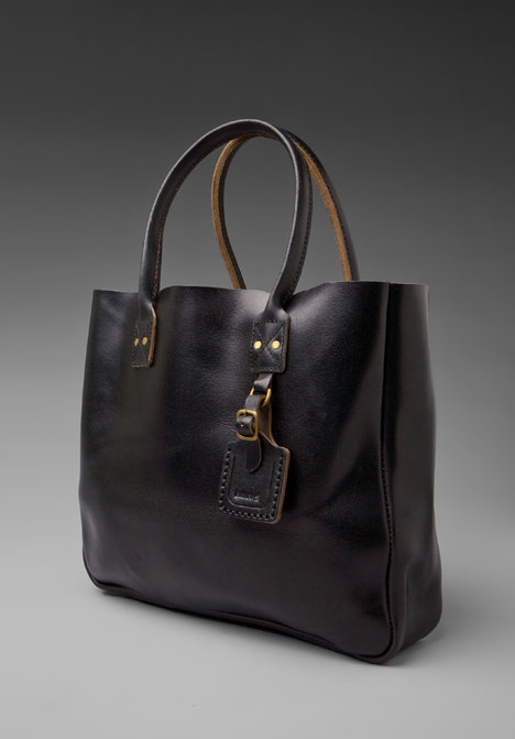 Billykirk Leather Tote w/ Luggage Tag