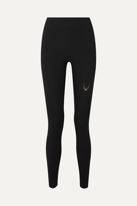 Lucas Hugh Performance V2 Mesh-paneled Stretch Leggings - Black