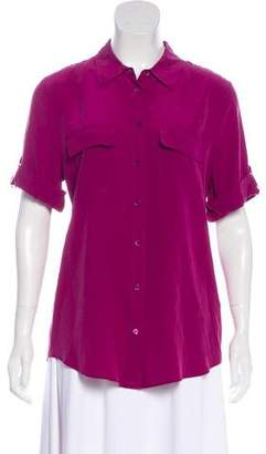 Equipment Short Sleeve Silk Top w/ Tags