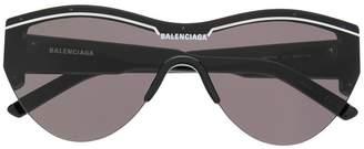 Balenciaga Eyewear oversized logo sunglasses