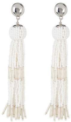Vince Camuto Beaded Tassel Dangle Earrings