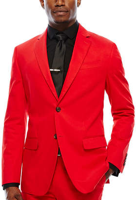 Jf J.Ferrar JF Cotton Cabaret Red Sport Coat-Slim