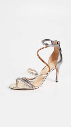 Bronze Strappy Heels Shopstyle