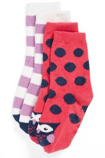 Nordstrom Slipper Socks (2-Pack) (Little Girls)