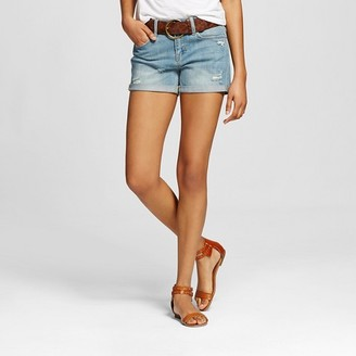 Dollhouse Women's Mid Rise Belted Jean Shorts Medium Wash - Dollhouse (Juniors') $27.99 thestylecure.com