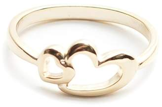 Fame Accessories Double Heart Ring
