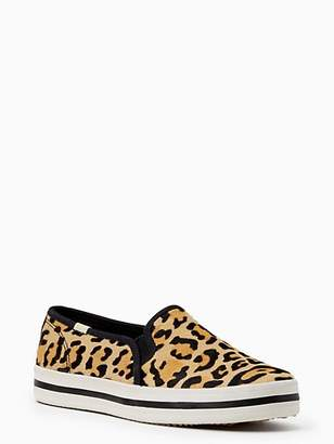 Kate Spade Keds x double decker leopard-print sneakers
