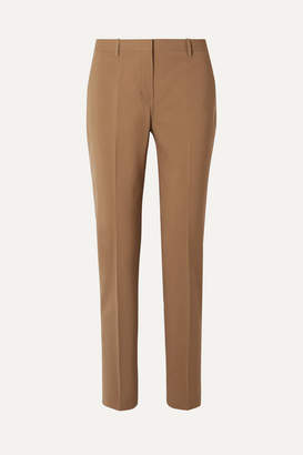 Theory Wool-blend Straight-leg Pants - Sand