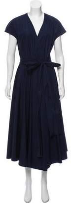 Salvatore Ferragamo Midi Short Sleeve Dress