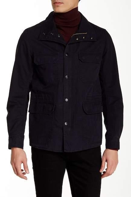DieselDiesel Jamede Genuine Leather Trim Flap Pocket Jacket