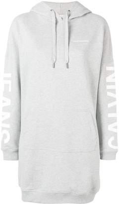 Calvin Klein Jeans logo print hoodie dress