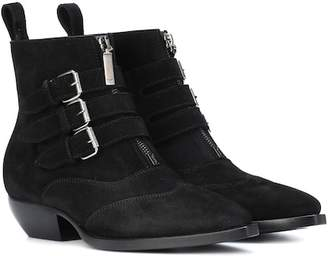 Saint Laurent Theo 45 suede ankle boots