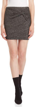 IRO Grey Marl Twist Mini Skirt