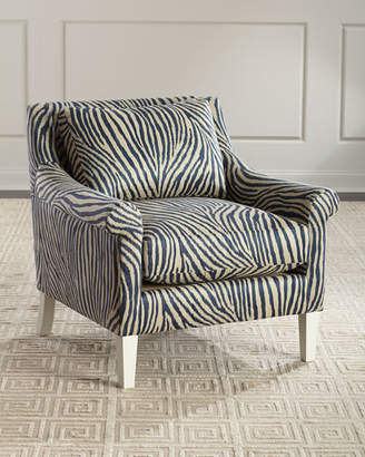 John-Richard Collection Zebra Rolled-Arm Lounge Chair