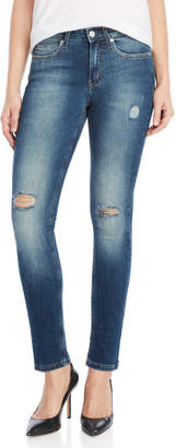 Calvin Klein Jeans Pup Blue Mr. Skinny Distressed Jeans