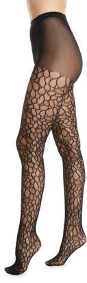 Natori Deco Lace Net Sheer Control-Top Tights