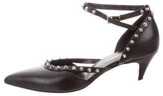 Saint Laurent Spiked Pointed-Toe Pumps
