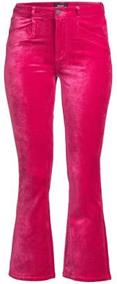Paige Roxxi High-Rise Velvet Ankle Flare Jeans