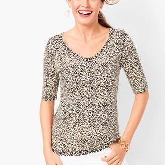 Talbots Animal-Print Sweater