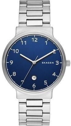 Skagen 'Ancher' Round Bracelet Watch, 40Mm $185 thestylecure.com