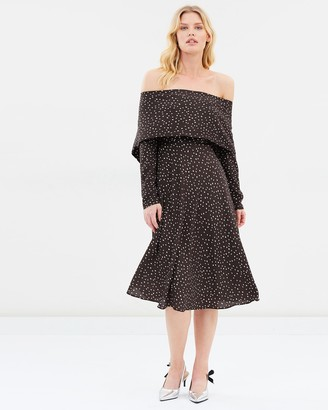 Pippa Fold Back Midi Dress