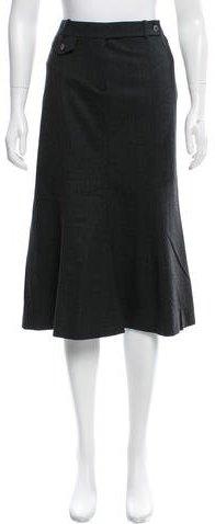 CelineCéline Wool Knee-Length Skirt