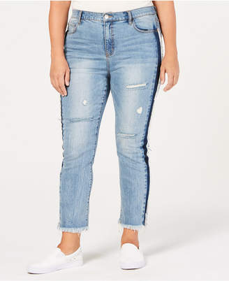 Rachel Roy Trendy Plus Size Ripped Skinny Jeans