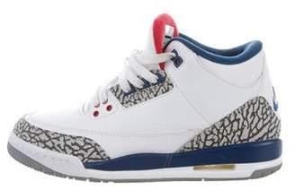 Nike Air Jordan Boys 2016 3 Retro BG True Blue Sneakers